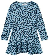 Mini Rodini Blue Leopard Print Drop Waist Dress