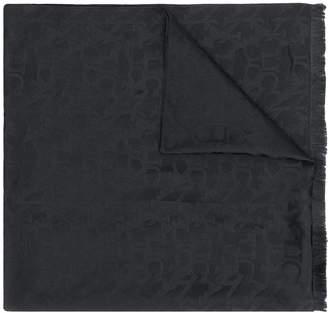 Canali logo print scarf