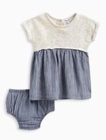 Splendid Baby Girl Mixed Fabric Dress