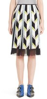 Emilio Pucci Sequin Embellished Chevron Carwash Skirt