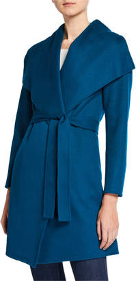 Neiman Marcus Double Face Cashmere Belted Shawl-Collar Coat