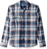 Lucky Brand Men's Casual Long Sleeve Plaid Workwear Button Down Shirt