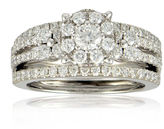 JCPenney FINE JEWELRY LIMITED QUANTITIES 1 CT. T.W. Diamond 14K White Gold Bridal Ring Set