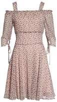 Sam Edelman Smocked Cold Shoulder A-Line Dress
