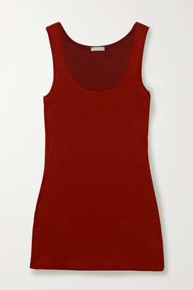 Hanro Ultralight Cotton-jersey Tank - Brick