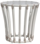 The Well Appointed House Circular Outdoor End Table in Dove White