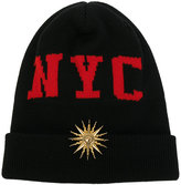 Fausto Puglisi NYC beanie hat - women - Virgin Wool - One Size