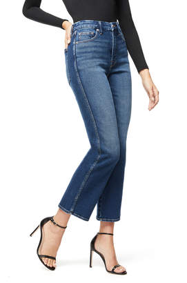 Good American Good Curve Straight Jeans W/ Western Yoke - Inclusive Sizing