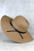 LuLu*s Leaf Pile Taupe Hat