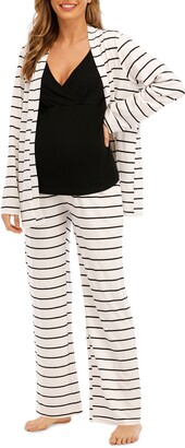 Savi Mom Riviera Tank, Pants & Robe Maternity Set