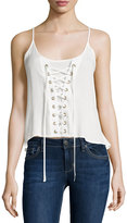 Bishop + Young Lace-Up Tank, White