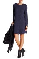 Bobeau Long Sleeve Swing Dress (Petite)