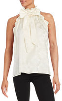 Rachel Zoe Tie-Neck Ruffled Blouse