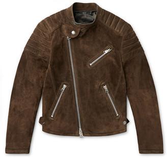 Tom Ford Slim-Fit Suede Biker Jacket
