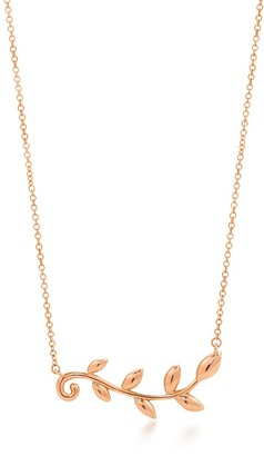 Tiffany & Co. Paloma Picasso Olive Leaf vine pendant in 18k rose gold