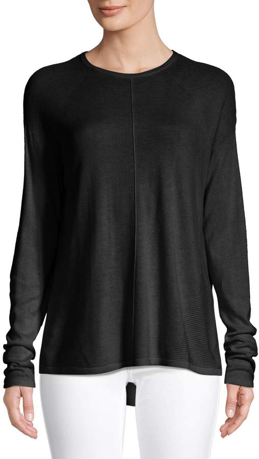 Lord & Taylor Petite High Low Crew Neck Sweater