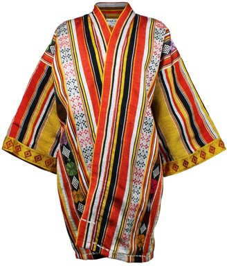 Maraina London Matilde Kimono Style Jacket In Yellow Red