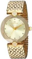 Oniss Paris Women's Quartz Stainless Steel Dress Watch, Color:Gold-Toned (Model: ON8777-LG/G)