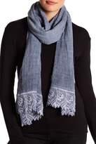 La Fiorentina Textured Crochet Hem Wrap Scarf