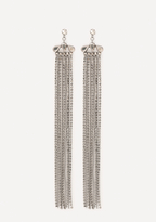 Bebe Glam Fringe Duster Earrings