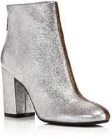 Kenneth Cole Cassandra Leather Two-Tone Metallic Block Heel Booties - 100% Exclusive