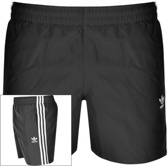 adidas 3 Stripes Swim Shorts Black