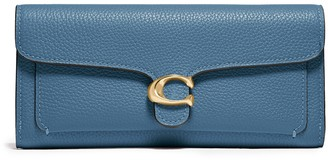 Coach Tabby Blue Leather Wallet