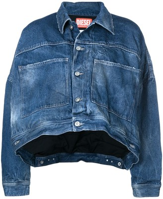 Diesel Red Tag SOJK02 cropped jacket