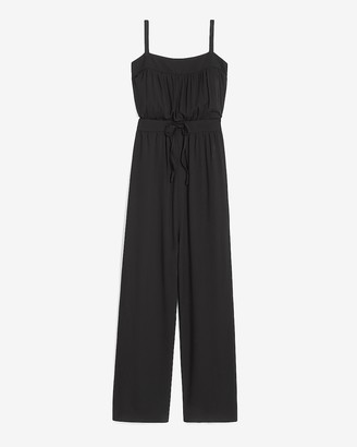 Express Ruched Bodice Culotte Jumpsuit