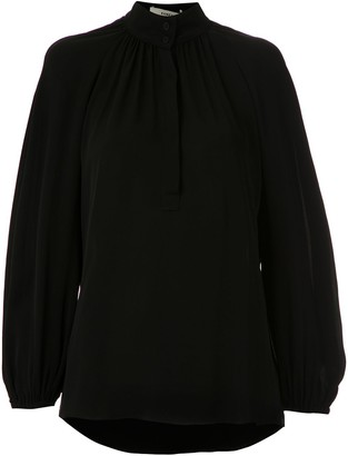 Egrey Ruched Detail Silk Blouse