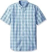 Izod Men's Short-Sleeve Saltwater Check Shirt
