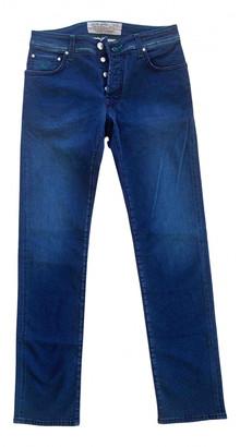 Jacob Cohen Blue Cotton - elasthane Jeans