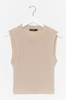 Nasty Gal Womens Oh Knits Old Thing vest Top - Beige - S