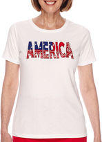 Sag Harbor American Dream Short-Sleeve America Printed Top