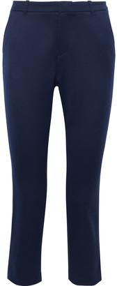 Alice + Olivia Cadence Cropped Wool-blend Twill Slim-leg Pants