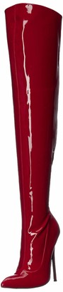 The Highest Heel Women's Sky 31 Thigh High Stretch 5-Inch Heel Boot Over The Knee