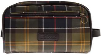 Barbour Tartan Wash Bag Brown