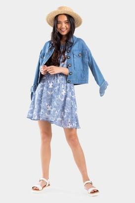 francesca's Julianna Paisley Flawless Dress - Blue