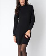 Yuka Paris Black Sofi Sweater Dress