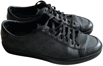 Gucci Anthracite Cloth Trainers