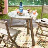 west elm Mosaic Tiled Outdoor Bistro Table - Two Tone Geo