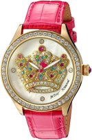 Betsey Johnson Women's Quartz Metal and Leather Watch, Color:Pink (Model: BJ00517-37)