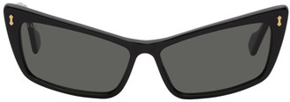 Gucci Black Exaggerated Cat Eye Sunglasses
