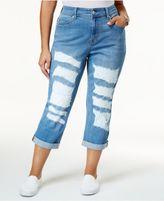 Melissa McCarthy Trendy Plus Size Ripped Girlfriend Jeans