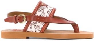 Chloé Floral-Detail Sandals