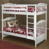 Curved Twin over Twin Bunk Bed Orbelle Trading Bed Frame Color: White