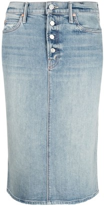 Mother Denim Pencil Skirt