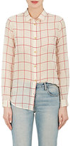 Giada Forte WOMEN'S WINDOWPANE-CHECKED COTTON-SILK SHIRT
