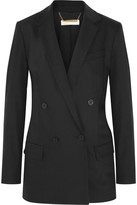 MICHAEL Michael Kors Double-breasted Stretch-wool Blazer - Black