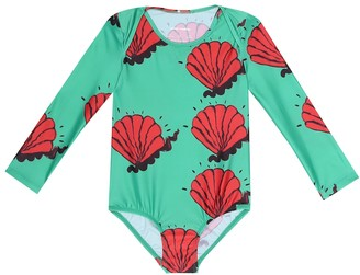 Mini Rodini Shell printed swimsuit